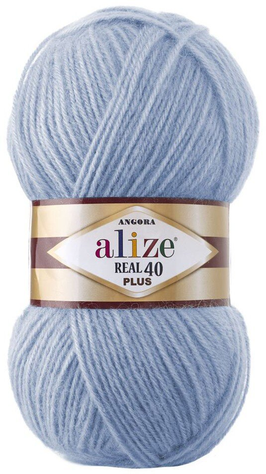 Пряжа ALIZE Angora real 40 Plus / 40 голубой