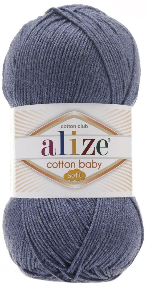 Пряжа ALIZE Cotton baby soft / 203 джинс меланж