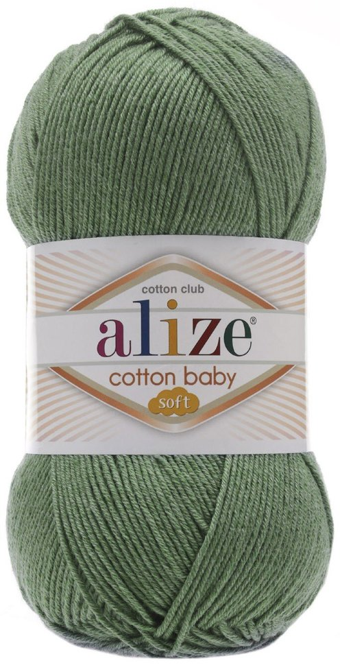 Пряжа ALIZE Cotton baby soft / 274 хаки