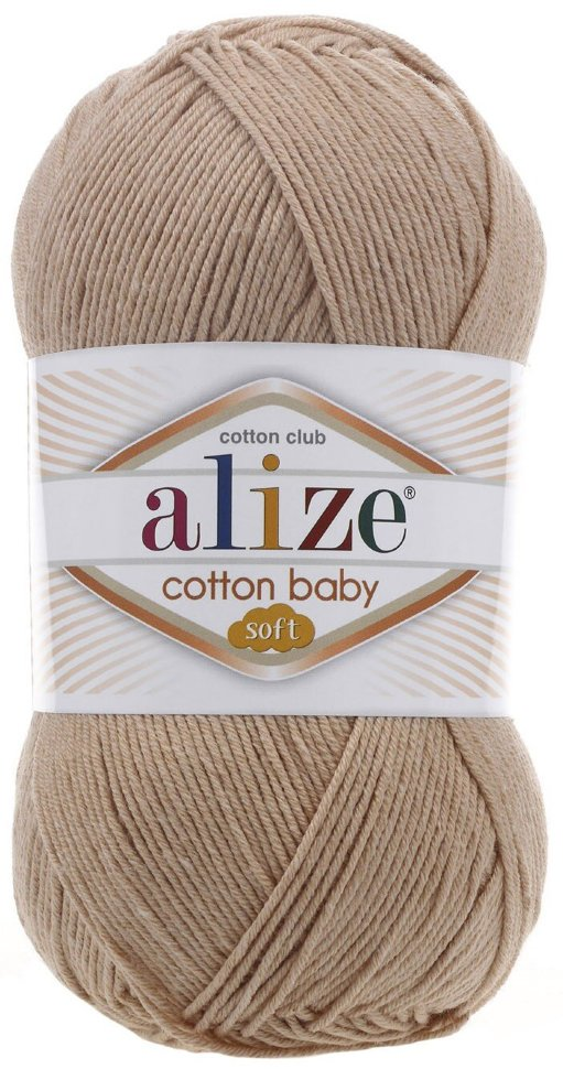 Пряжа ALIZE Cotton baby soft / 298  светло беж