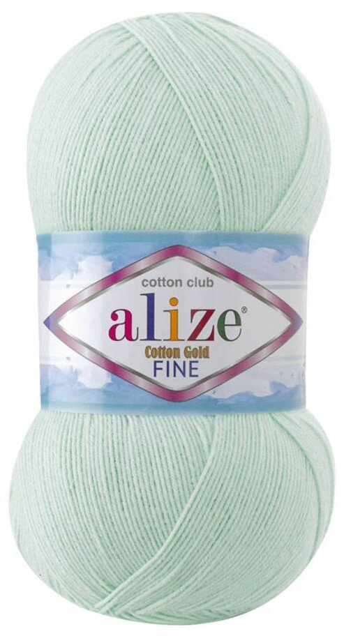 Пряжа ALIZE Cotton gold fine / 522 мята