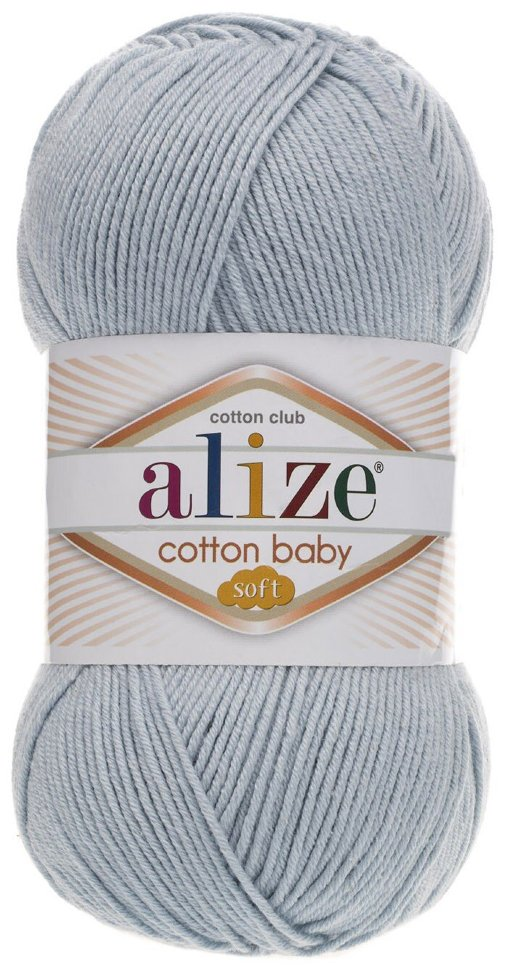Пряжа ALIZE Cotton baby soft / 480 светло- синий