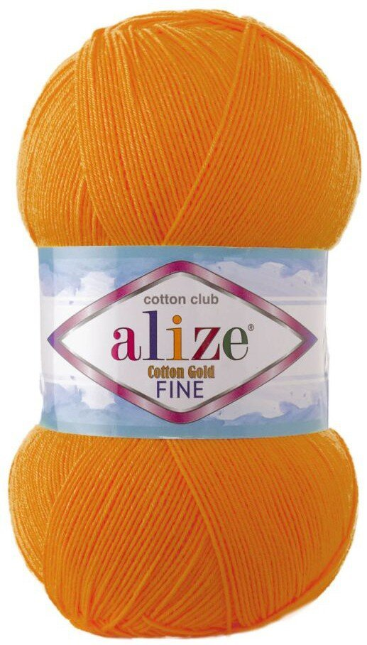 Пряжа ALIZE Cotton gold fine / 83 тыква