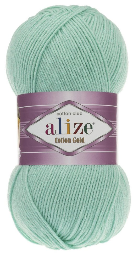 Пряжа ALIZE Cotton gold / 15 водяная зелень