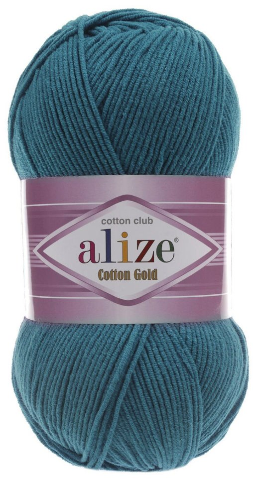 Пряжа ALIZE Cotton gold / 17 петроль