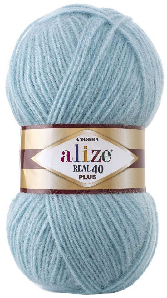 Пряжа ALIZE Angora real 40 Plus / 114 светлая мята