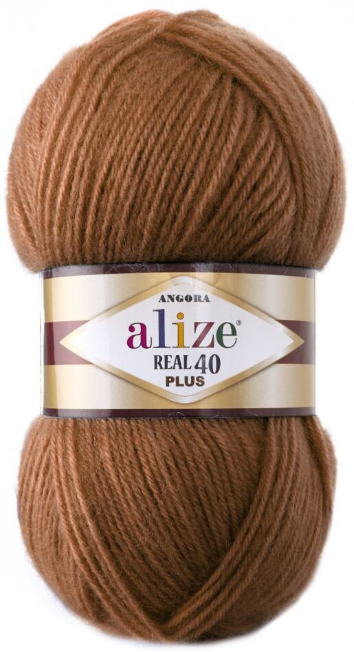 Пряжа ALIZE Angora real 40 Plus / 234 рыжий